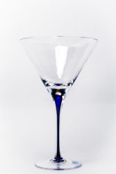Tears and Cheers Blue Martini Glass Set of Two