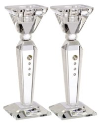 Crystal Candleholder Set w. Swarovski Elements