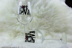 Dope Diva customized Wineglass